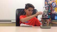 Ryan A, Lucy, Sadie and Wendell on How To Use A Microscope